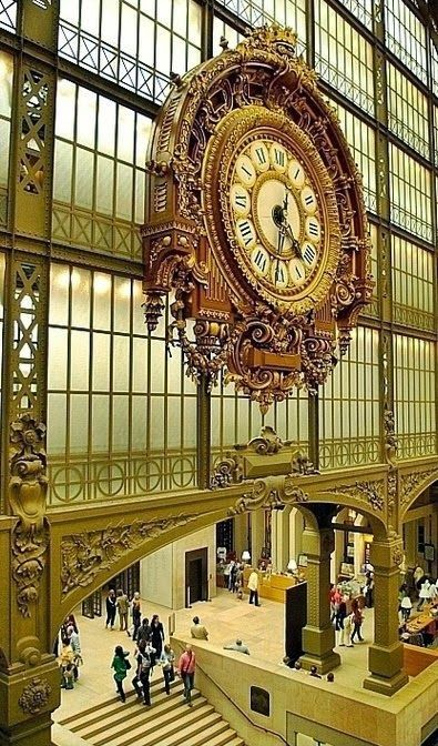The fabulous clock at the Musée D'Orsay, in Paris.