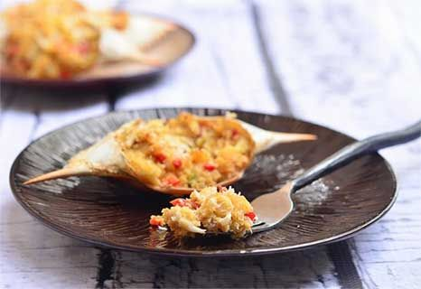 Rellenong Alimasag (Baked Stuffed Blue Crab) recipe