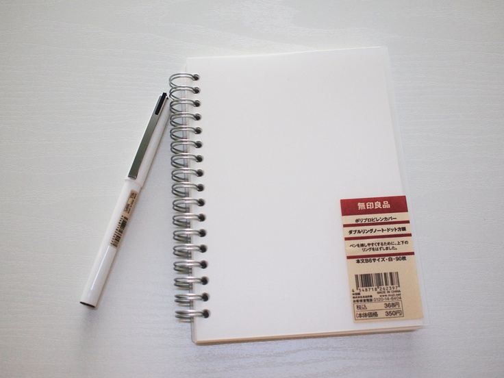 Muji Recycled Paper Ring Dot Notebook A