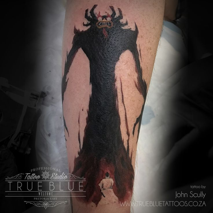 """AKU""by John Scully of True Blue Professional Tattoo Studio"