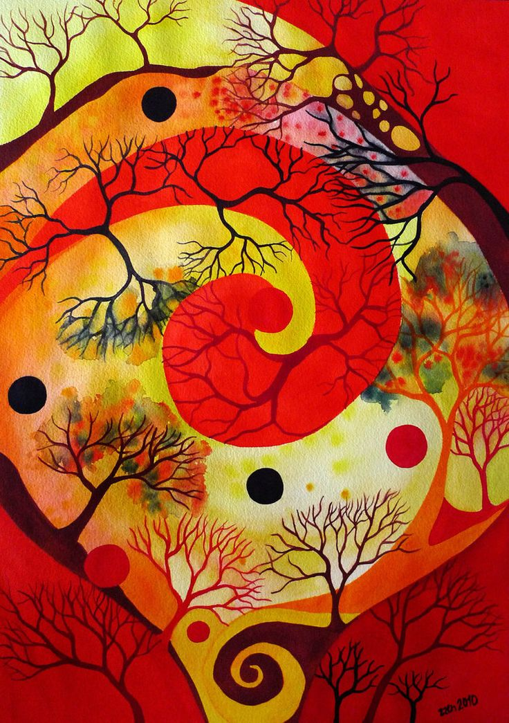 Red Spiral 2 by Zuzana M