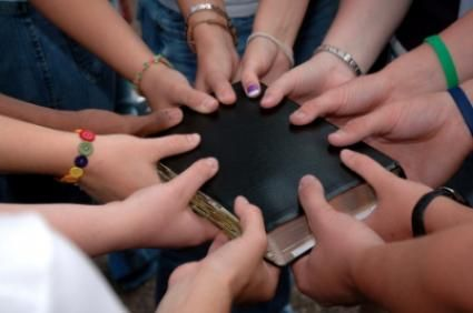 Youth Group with Bible