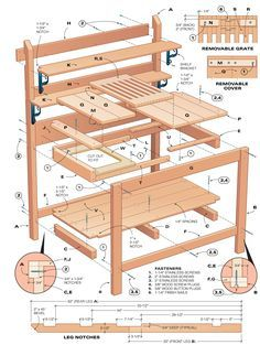 DIY Potting Bench   The Urban Domestic Diva: CRAFTS: A Victorian Country Potting Bench