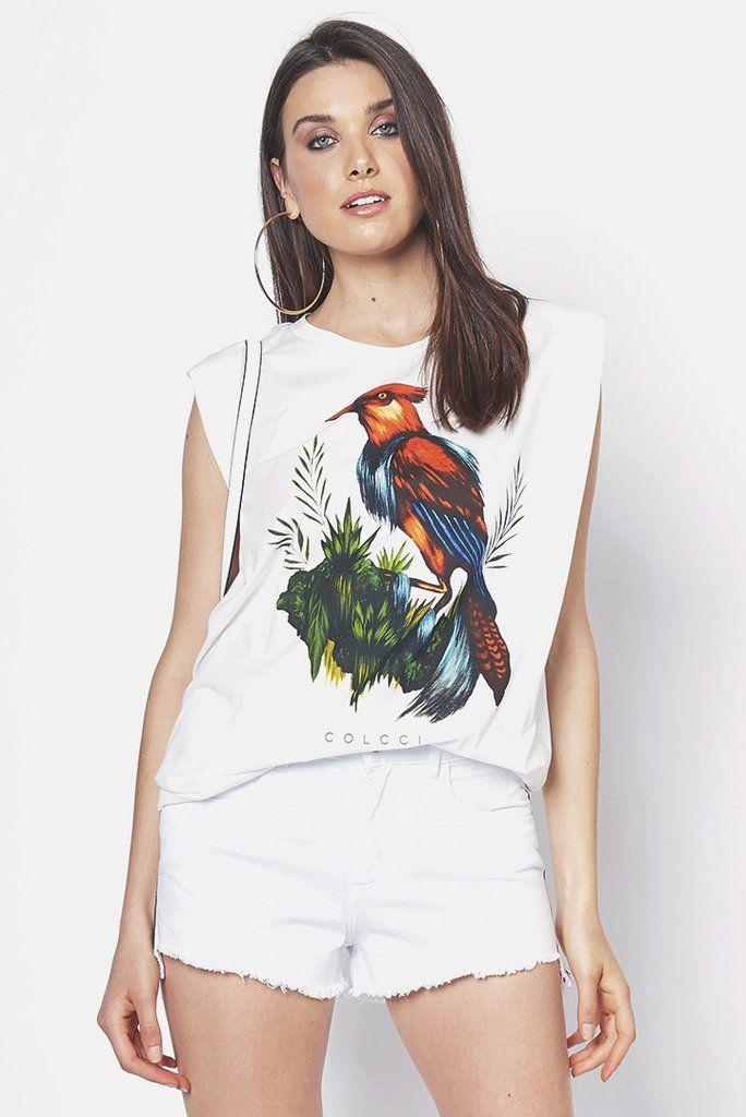 632904fd6f Camiseta Estampada Pássaro - SHOP COLCCI OFICIAL