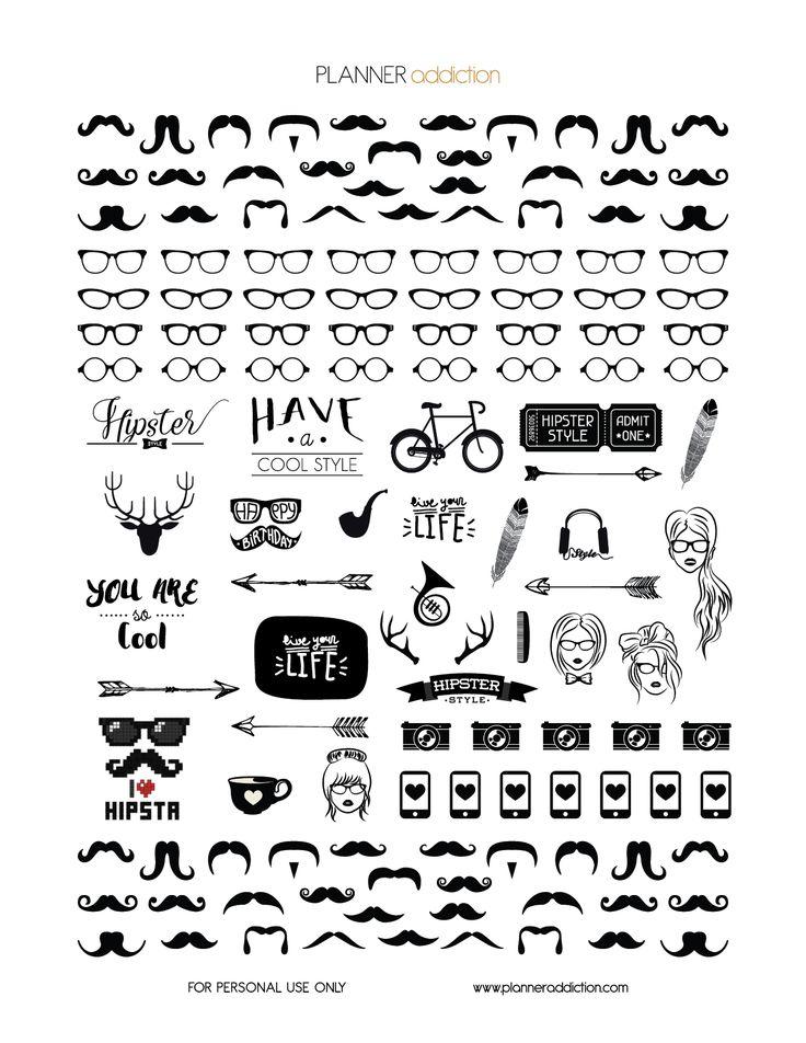 Black & White Hipster                                                       …