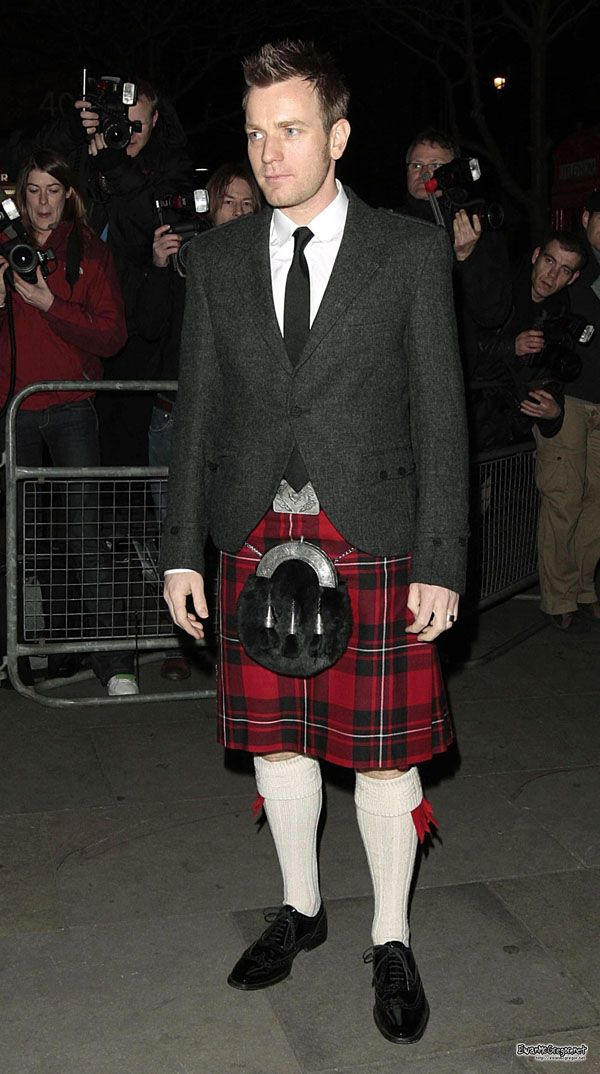 The one and only Ewan McGregor in a kilt. Make this my clan tartan and I'm ready to put it on!