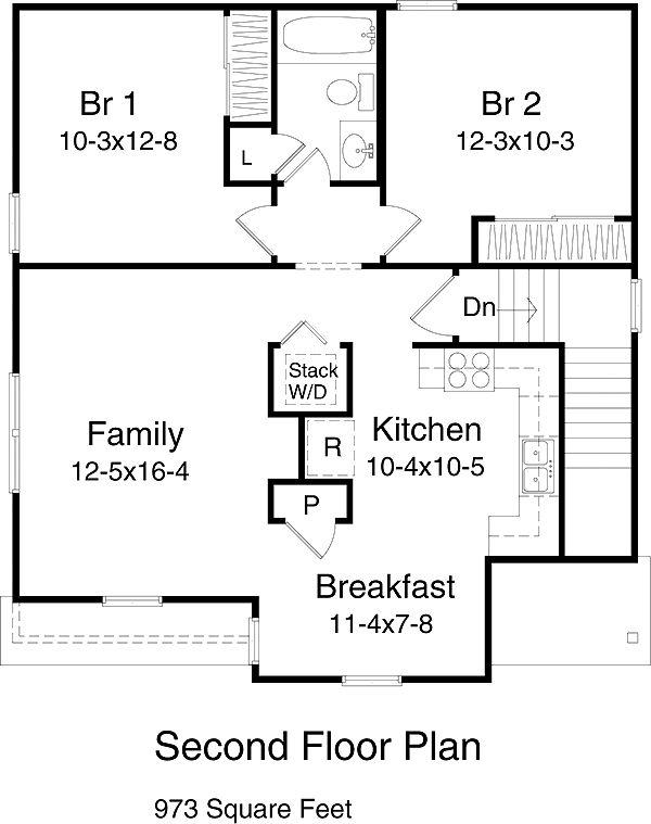 Plan 9919   Just Garage Plans   Side Entry, 3 Bay, W/d Up, (make Big Closet  Plus Study)
