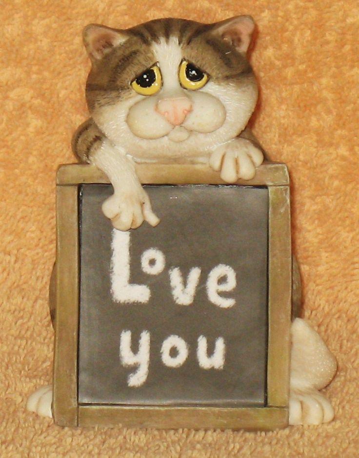 Border Fine Arts Linda Jane Smith Comic & Curious Cats - Love You - A25895 | eBay
