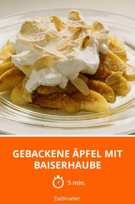 Gebackene Äpfel mit Baiserhaube - smarter - Zeit: 5 Min. | eatsmarter.de