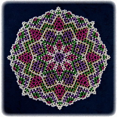 Holiday Time Doily Pattern | Bead-Patterns.com                                                                                                                                                     More
