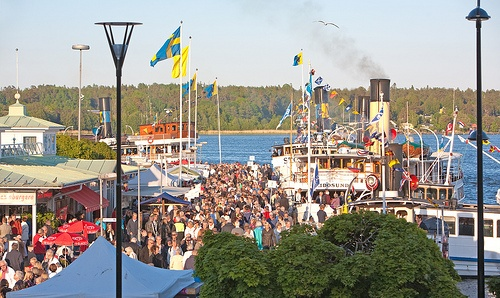 Steamship Day, Vaxholm, Sweden.