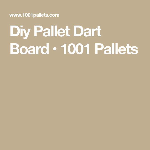 Diy Pallet Dart Board • 1001 Pallets