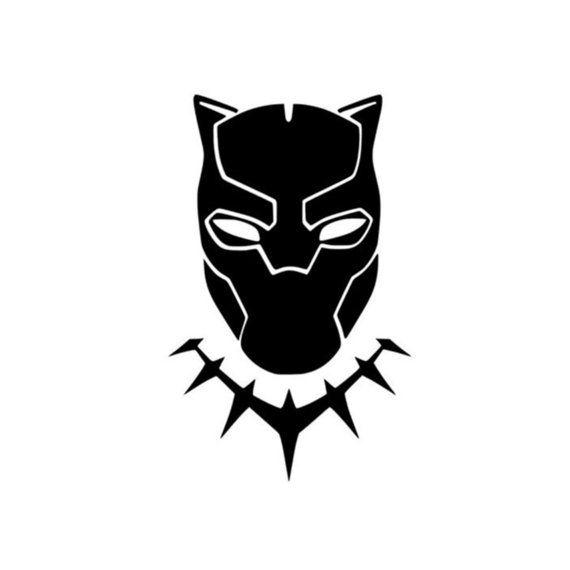 Black Panther Marvel Disney Logo Decal Black Panther Art Black Panther Marvel Panther Art