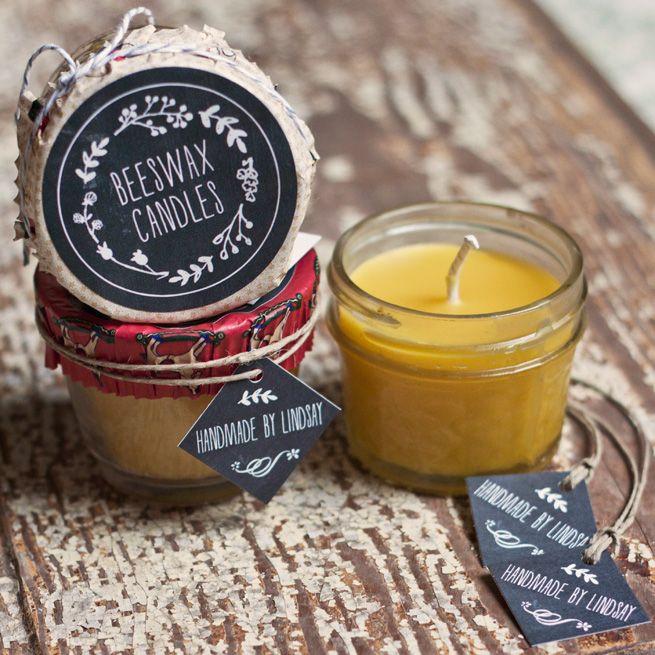 Maison Bougies cire d'abeille # diy # # artisanat cadeau # vacances