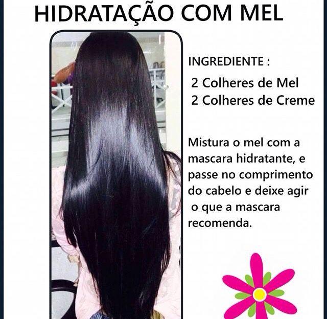 Hidratação para cabelo com mel