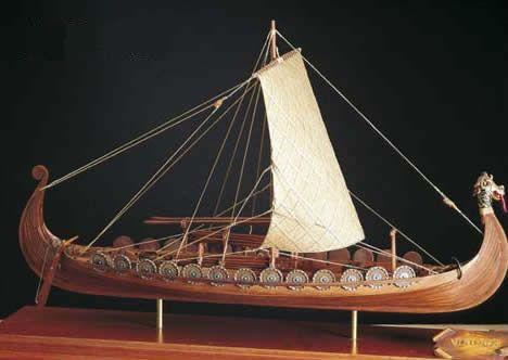 Amati Oseberg Viking Ship 1:50 static display wooden model ...