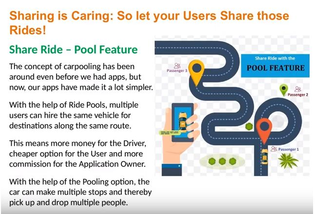 Hotel Ride Booking & Uber Pool Feature in Uber Clone