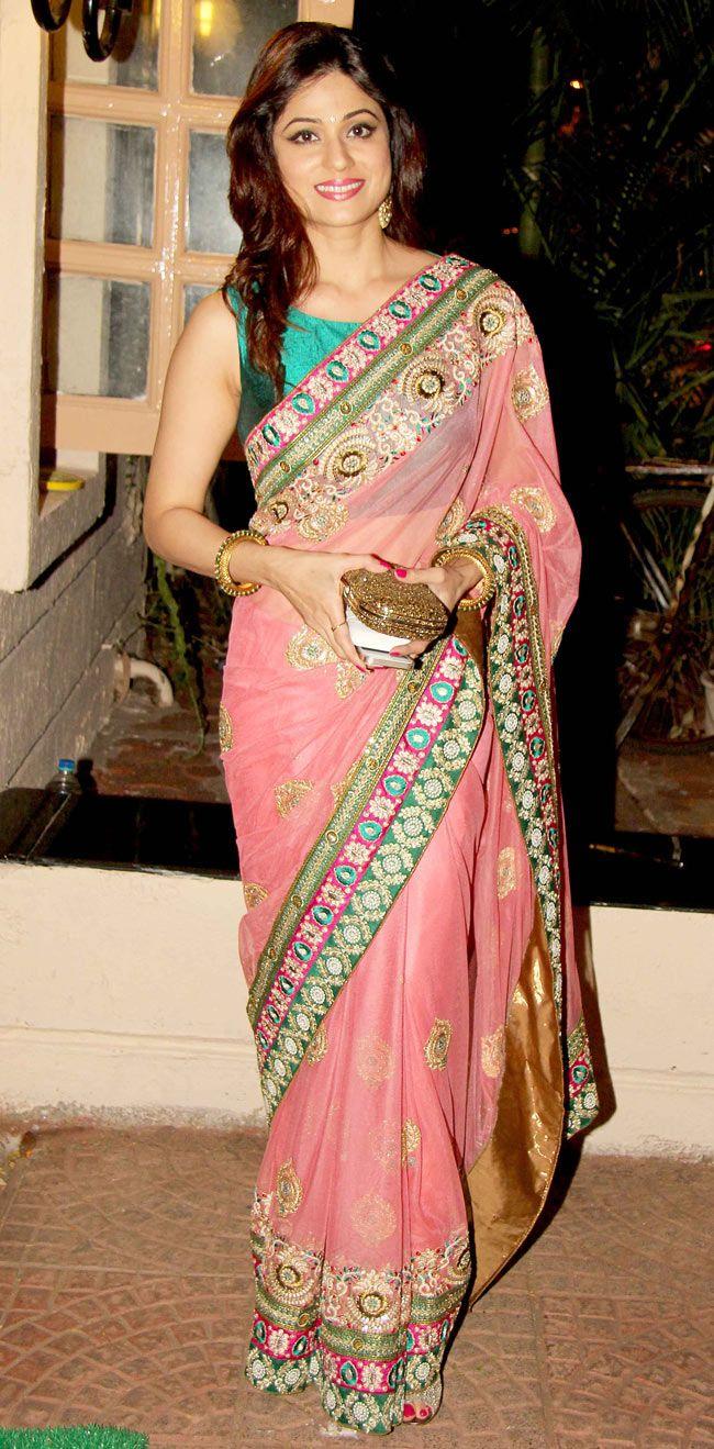 Shamita Shetty at Ekta Kapoor's Diwali bash. #Bollywood #Fashion #Style #Beauty