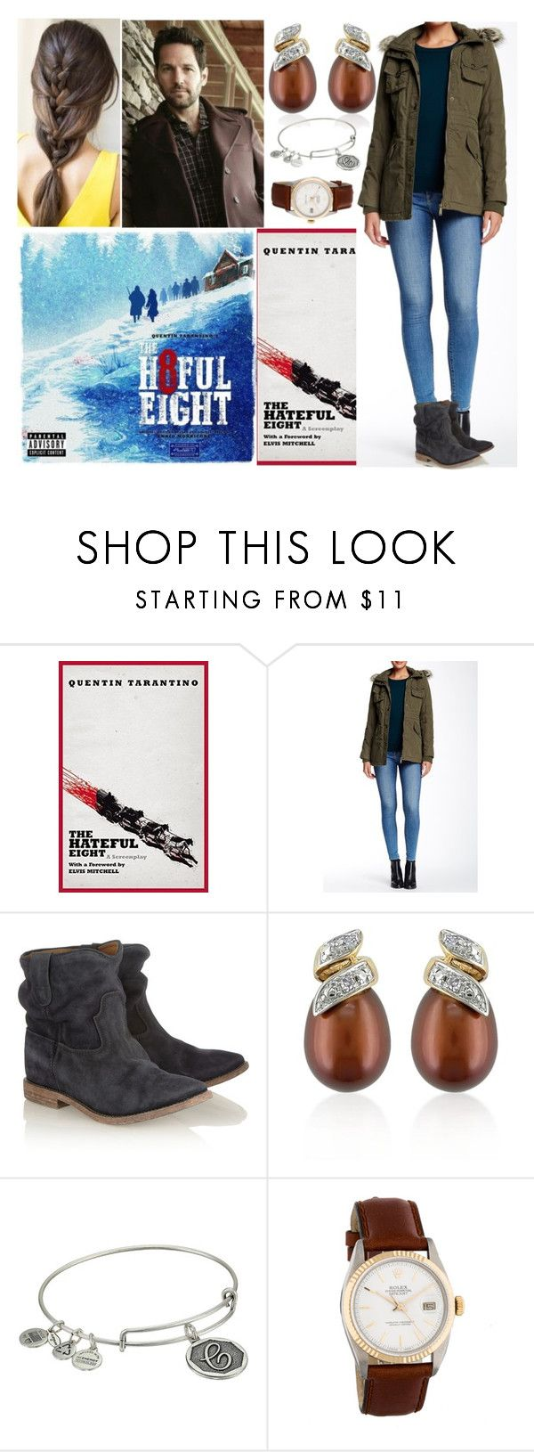 """""""Going to cinema with Paul and watching """"The Hateful Eight"""" by Quentin Tarantino"""" by deborawinter ❤ liked on Polyvore featuring BCBGMAXAZRIA, Isabel Marant, Belk & Co., Alex and Ani, Rolex, women's clothing, women, female, woman and misses"""
