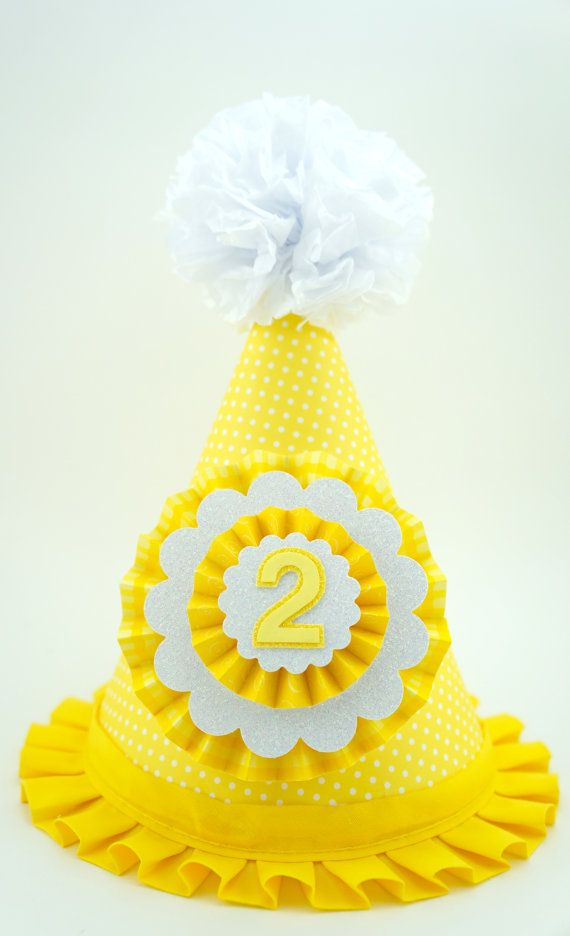You Are My Sunshine Party Hat, Yellow Party Hat, 1st Birthday Party Hat on Etsy, $15.00