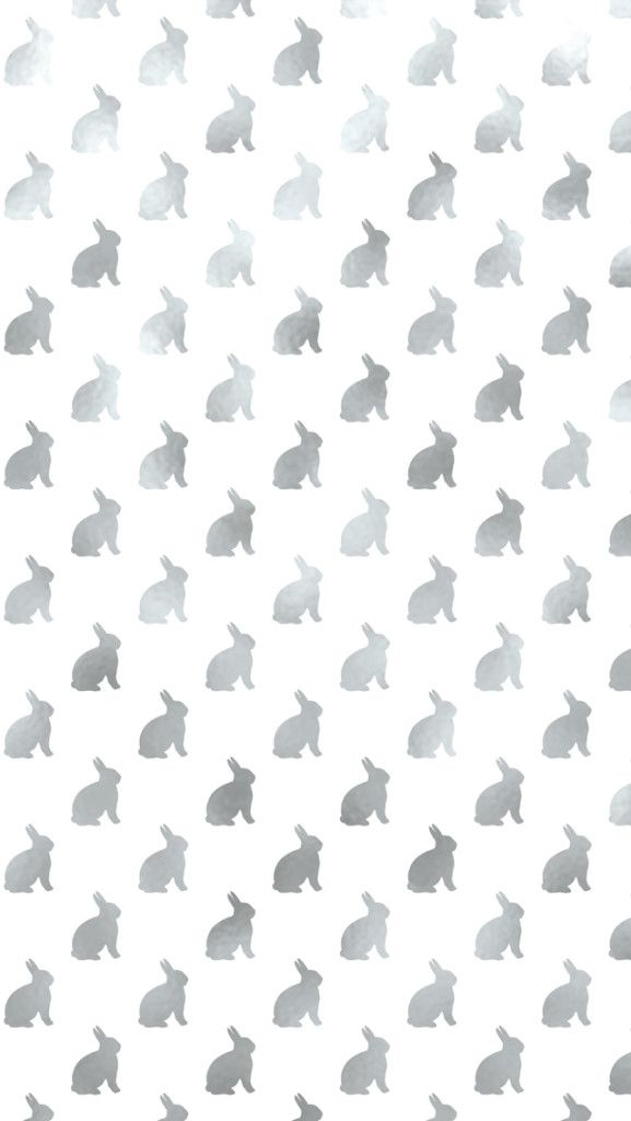 Free Easter Background. Silver Bunny iPhone Wallpaper