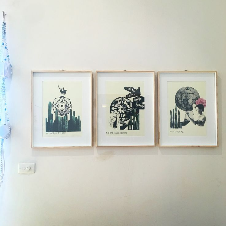 ScreenPrint series 'Finding Ones Self in Nature' by Georgia Steele  #screenprint #collage #watercolour #frames #macrame #series #printmaking   https://www.etsy.com/au/shop/GeorgiaSteeleDesign?ref=pr_shop_more