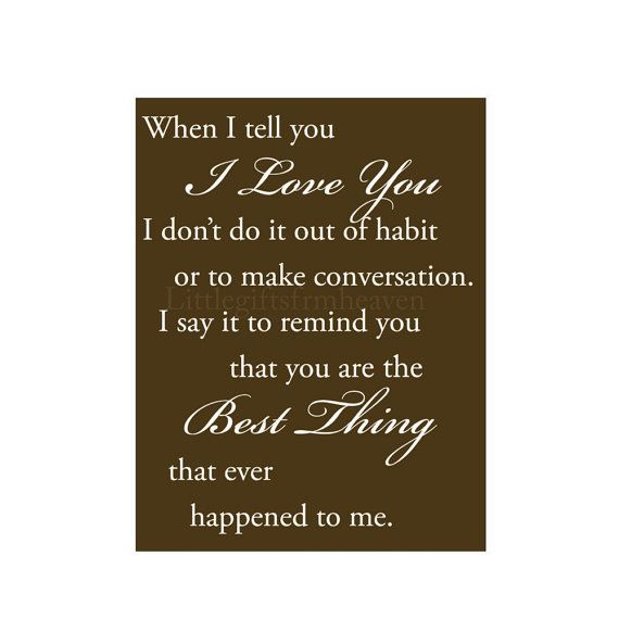 I Love You quote best thing quote I love by Littlegiftsfrmheaven, $14.00