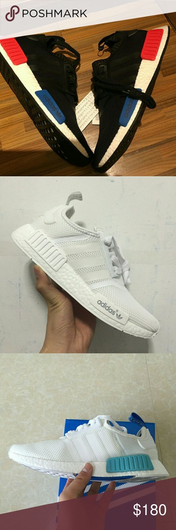 Adidas NMD r1 runner boost black white Size:5-11(men & women),  Color: pirate black S81846, All white S79166, White blue S75235, Black S79168;  (Get Big Discount!!!) Welcome to make an offer. adidas Shoes Athletic Shoes
