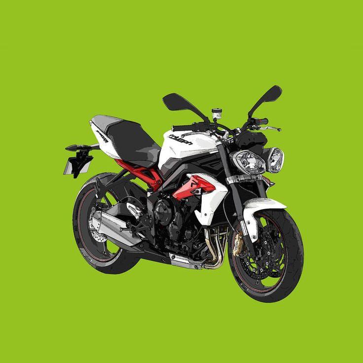 Triumph Street Triple R  Si te gusta mis trabajos, Sígueme. If you like my artworks, Follow me.  #triumph #streettriple #triumphstreettriple  #streettripler #r #triumphstrerttripler #moto #motocycle #motorbike #motocicleta #instamoto #alvarodintenmoto #diseño #dibujo #draw #drawing #design #green