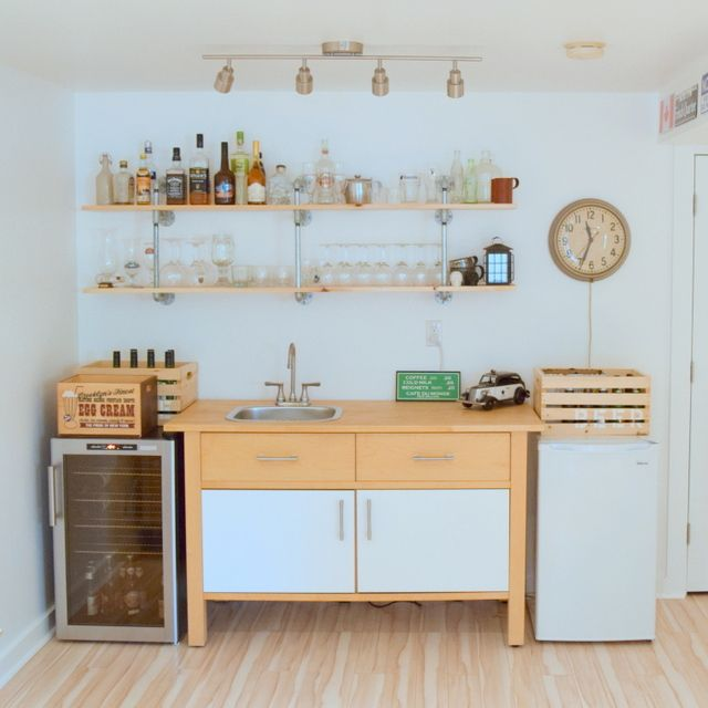 IKEA VARDE kitchenette - basement bar - northstory.ca