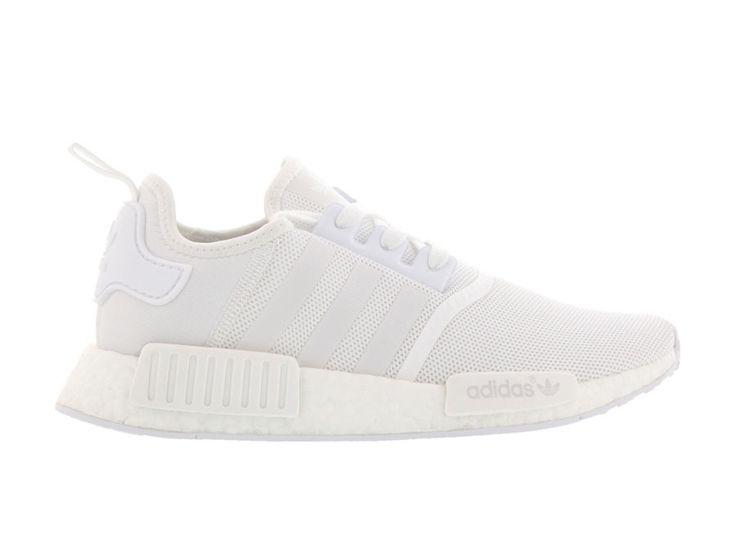 adidas NMD R1 für sie und ihn. All white in moderner Form. Potential: Kult-Schuh.