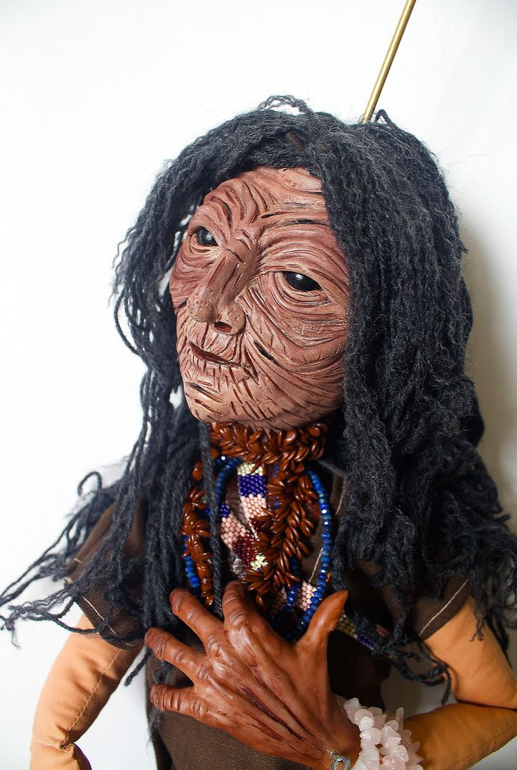 Wise-woman Demeter marionette by Canadian artist Lindsay Montgomery 2014