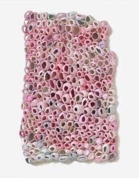 Elisa D'Arrigo  socks, thread, acrylic paint,marble dust