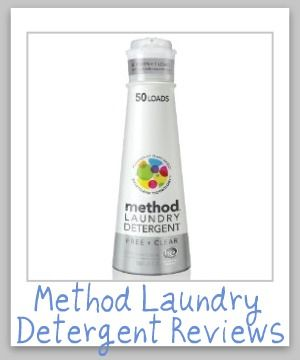 Method laundry detergent reviews, in multiple scents.
