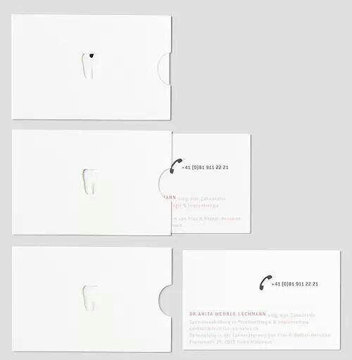 Innovative namecard design for dentist!