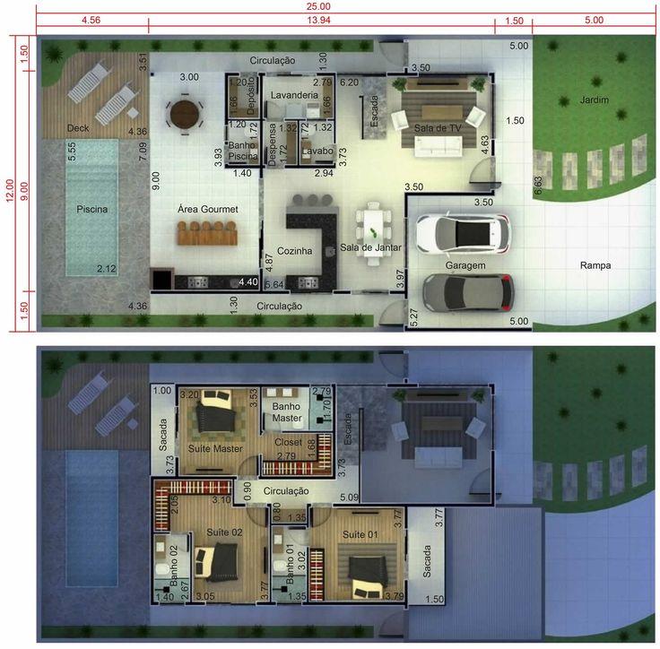 Plano de casa clean Plano para terreno