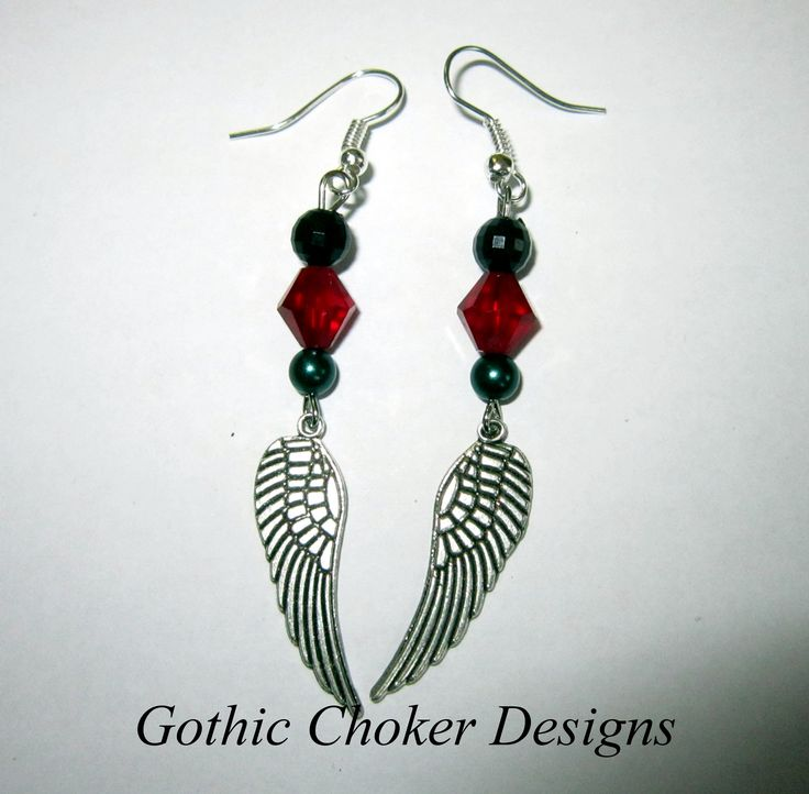 Steampunk Christmas wing earrings. R60 approx $6.  Purchase here: https://hellopretty.co.za/gothic-choker-designs/steampunk-christmas-wing-earrings