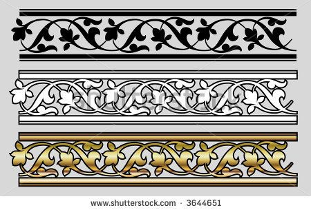 stock vector : Seamless Victorian Style Design Elements (Vector)