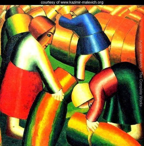 Taking in the rye - Kazimir Severinovich Malevich - www.kazimir-malevich.org