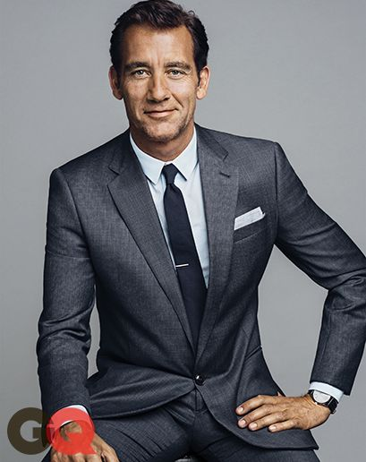 Clive Owen wearing a suit by #GiorgioArmani, shirt and tie by #EmporioArmani