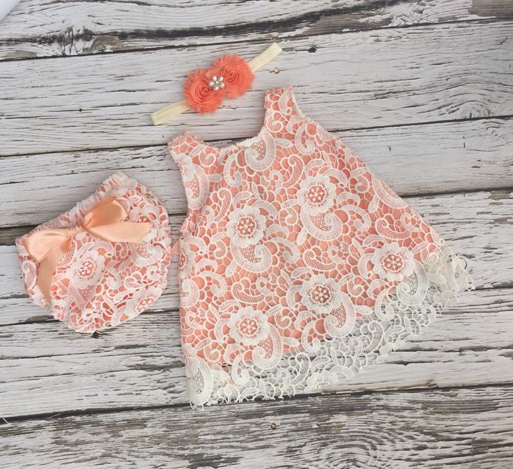 Baby girl dress. Ivory lace baby dress. Baby girl outfit. Peach baby dress. Swing set. Baby lace dress. by KadeesKloset on Etsy https://www.etsy.com/listing/272985030/baby-girl-dress-ivory-lace-baby-dress
