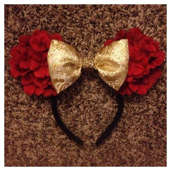 Princess Belle mickey mouse ears ❤ liked on Polyvore featuring jewelry, earrings, mickey mouse jewelry and mickey mouse earrings