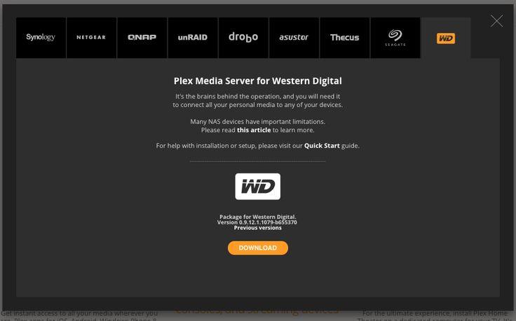 Plex Media Server for Western Digital Download - Network Attached Storage / My Cloud EX4 - WD Community