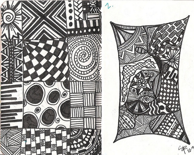Line Art Zentangle : Best ideas about zentangle attempt mønster and