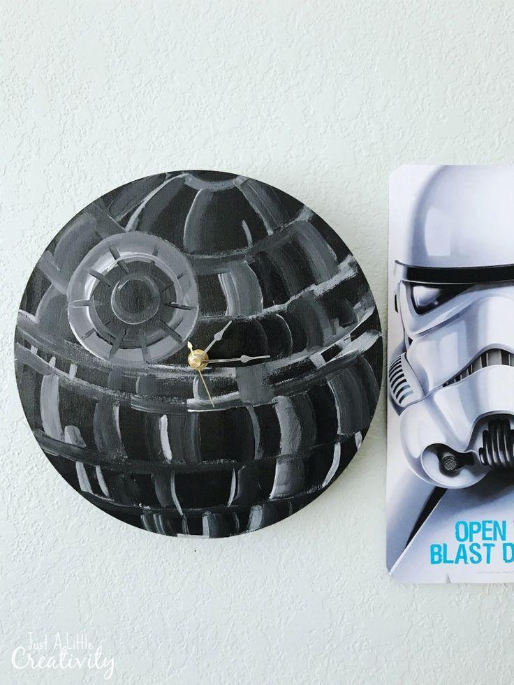 Make your own Star Wars Death Star clock