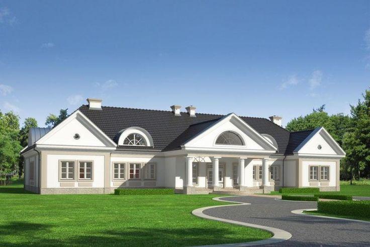 Reprezentacyjna i elegancka rezydencja w stylu klasycznego dworku przeznaczona dla wieloosobowej rodziny.