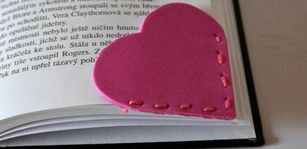 Srdíčková záložka do knížky snadno a rychle