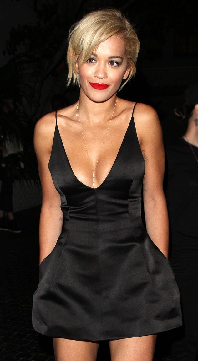 Rita Ora Wows In Cleavage-Baring Black Dress After Calvin Harris Split: Picture