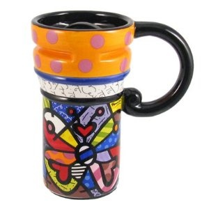 Britto Travel Mug Butterfly Romero Britto #Mug