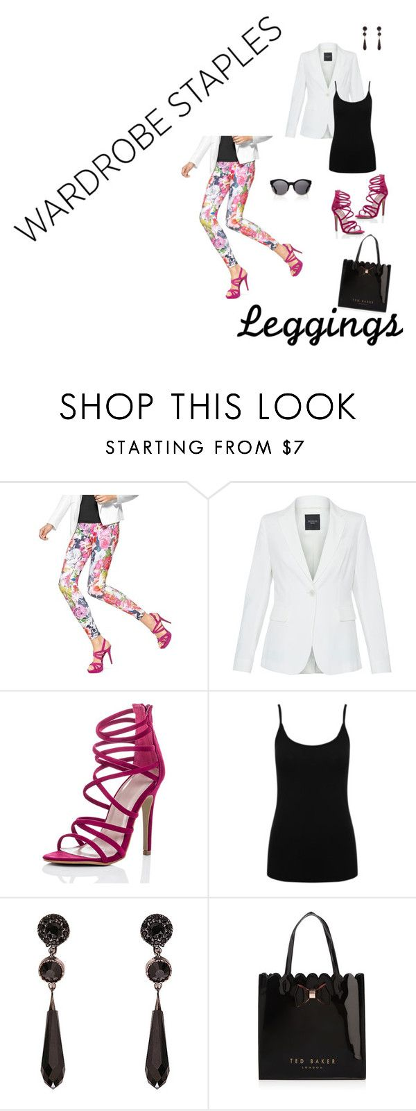 """Untitled #52"" by brandikw on Polyvore featuring Hue, Weekend Max Mara, M&Co, Givenchy, Kerr®, Ted Baker, Leggings and WardrobeStaples"